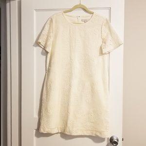 Ann Taylor LOFT Cream Dress w/ Beautiful Detailing